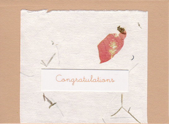 (SOLD) 045 - Congratulations