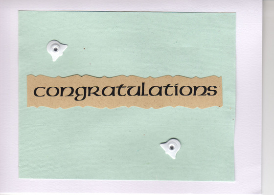 (SOLD) 052 - Congratulations