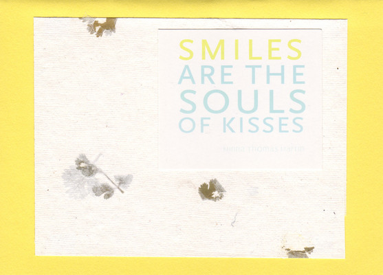 (SOLD) 082 - Smiles are the souls of kisses