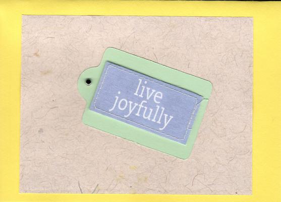 (SOLD) 083 - Live joyfully
