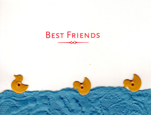(SOLD) 124 - 'Best Friends' with duck embellishments
