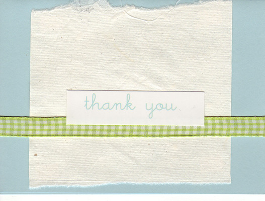 136 - 'thank you' with ribbon