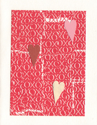 159 - (SOLD) Hearts on XO patterened paper