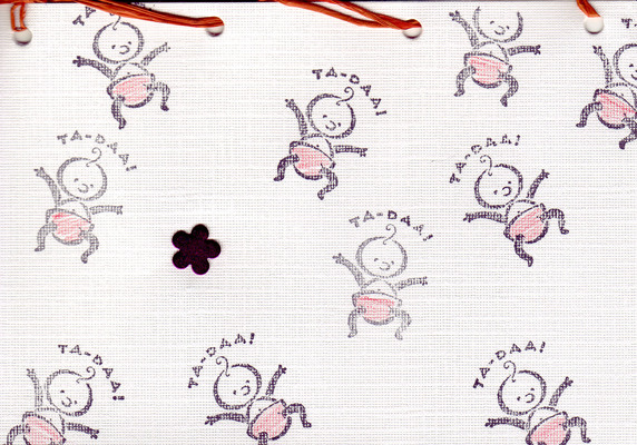 161 - 'Ta-Daa!' baby stamps with flower embellishment