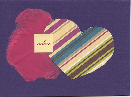 002 - Purple 'Adore' with heart