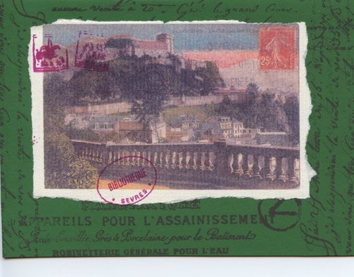 020 - French themed vintage postcard