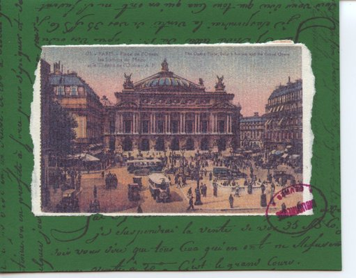 021 - French themed vintage postcard