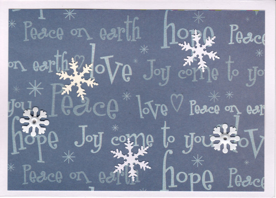 (SOLD) 010 - Snow (Peace, Love, Joy, Hope)