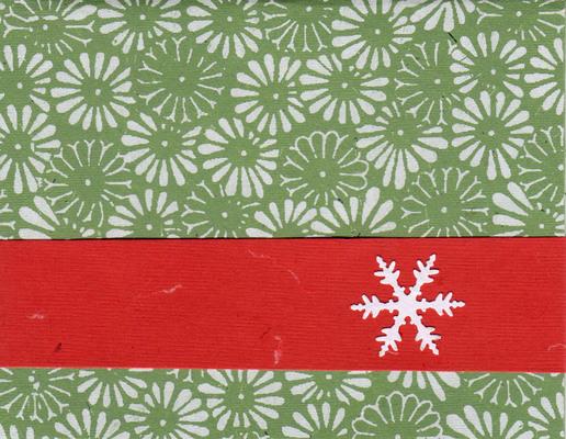 014 - Snow, green flowers