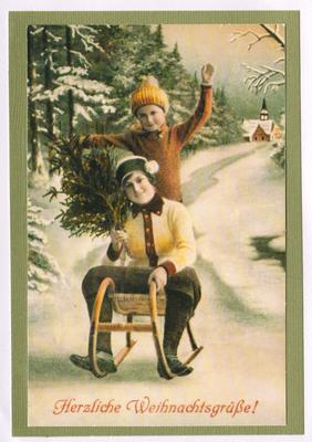 028 - Vintage German (Sledding)