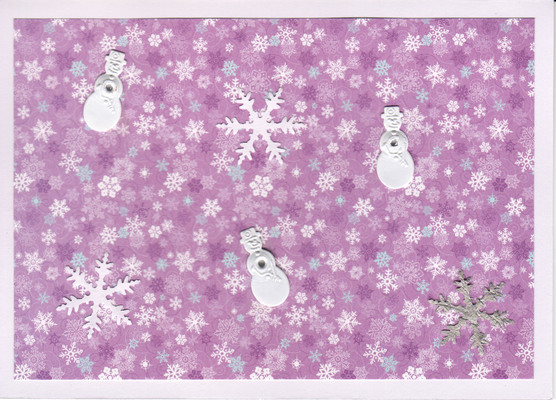 034 - Purple Snow (snowflakes, snowmen)