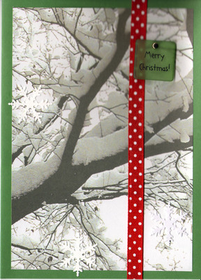 (SOLD) 039 - Merry Christmas (snowy tree)