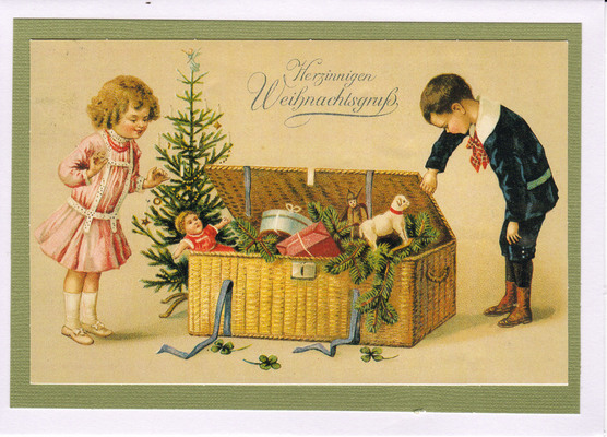 041 - Vintage German (Kids and presents)