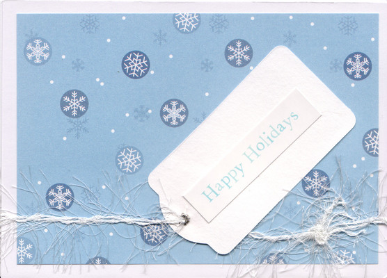 042 - Happy Holidays (snow, present tag)