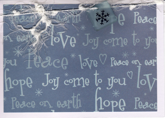 (SOLD) 043 - Love, Joy, Peace, Hope (snow)