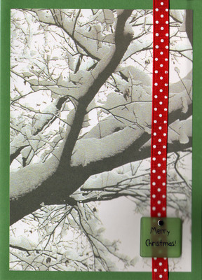 045 - (SOLD) Merry Christmas (snowy tree)