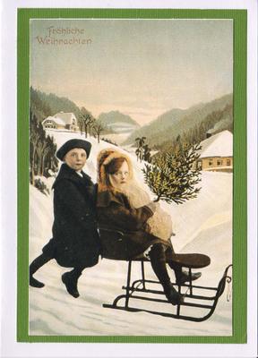 052 - Vintage German (Sledding)