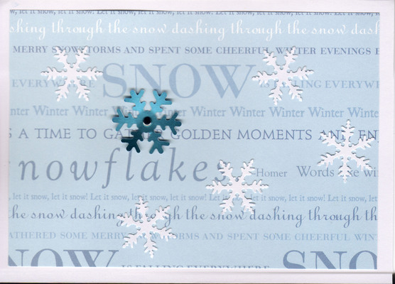 056 - Snow text (snowflakes)