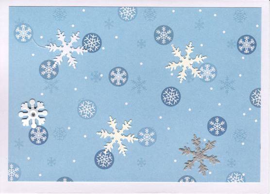 057 - Snowflakes (blue)