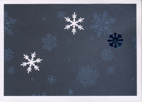 (SOLD) 060 - Snowflakes (Dark blue)