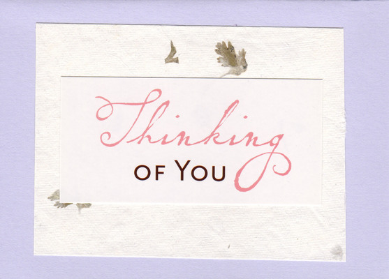 081 - Thinking of you
