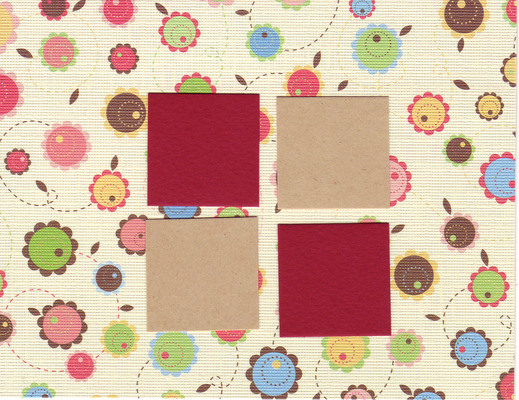 105 - Spring- Gorgeous floral textured paper w. 4 windows