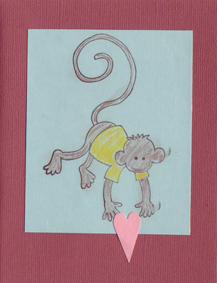 (SOLD)126 - Monkey with heart