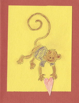 127 - Monkey with heart