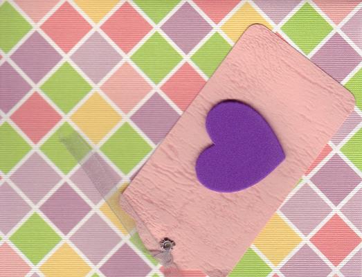 137 - Raised heart on diamond paper