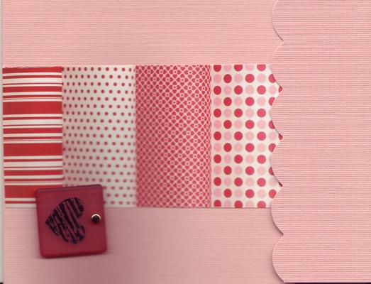 138 - Block heart on pink pattern
