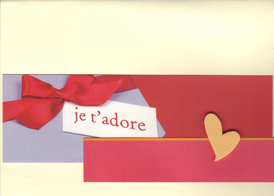 (SOLD)141 - 'Je t'adore' (with heart and bow)