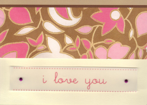 (SOLD)147 - 'I love you' with floral background