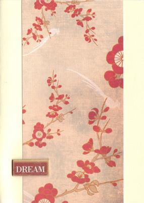 152 - 'Dream' on cherry blossom print paper