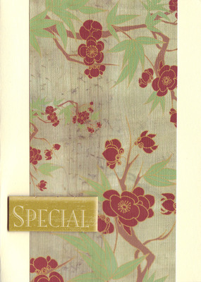 154 - 'Special' on cherry blossom paper