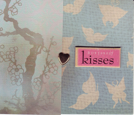 159 - 'Butterfly Kisses' on butterfly and tree print paper