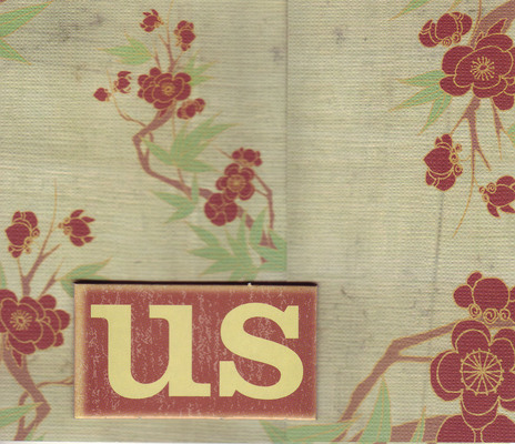 161 - 'Us' on bold floral paper