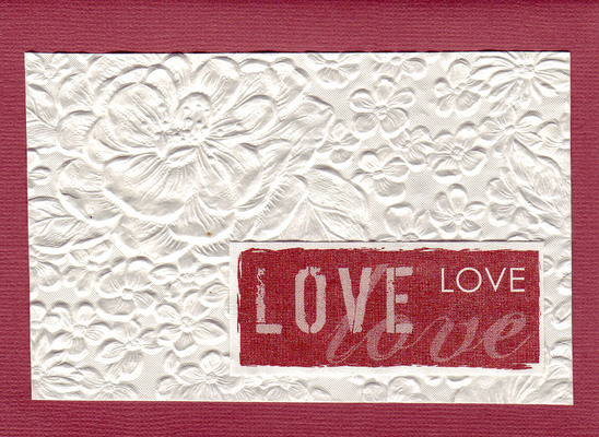 (SOLD) 171 - Beautiful floral textured paper with 'Love'