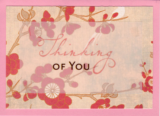 179 - Beautiful cherry blossom paper with 'Thinking of You'