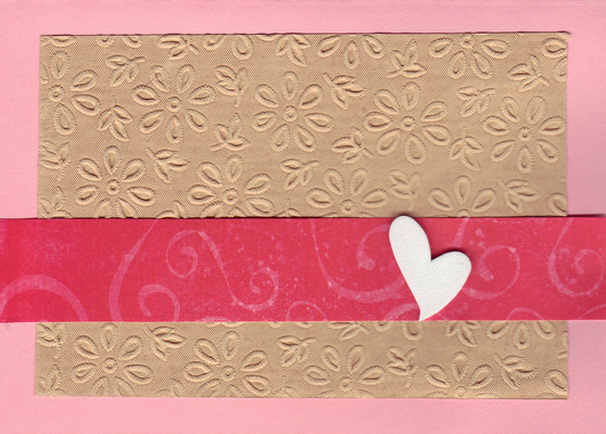(SOLD)181 - Beautiful floral textured paper with heart embellishment