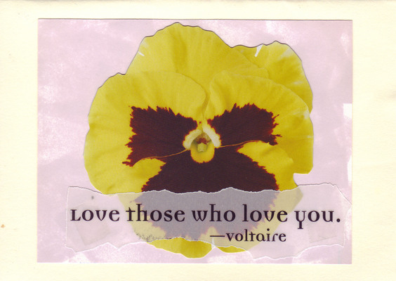 184 - 'Love those who love you' on large printed flower