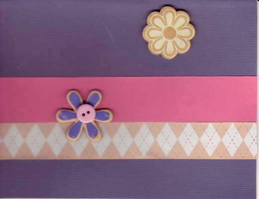 003 - Flowers on purple background with pink band