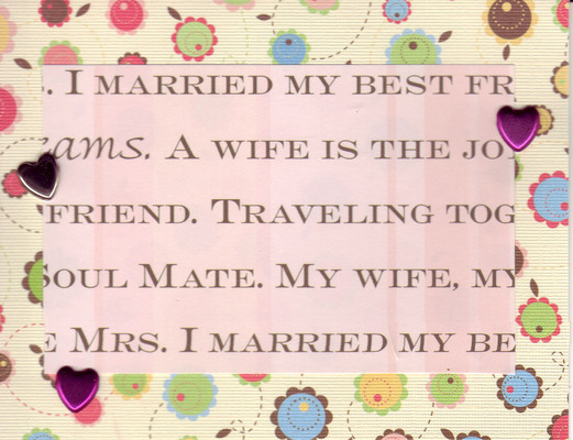 028 - 'I married my best friend' with hearts