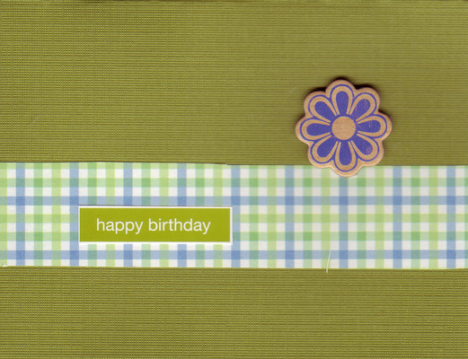 036 - 'Happy Birthday' with flower on green card
