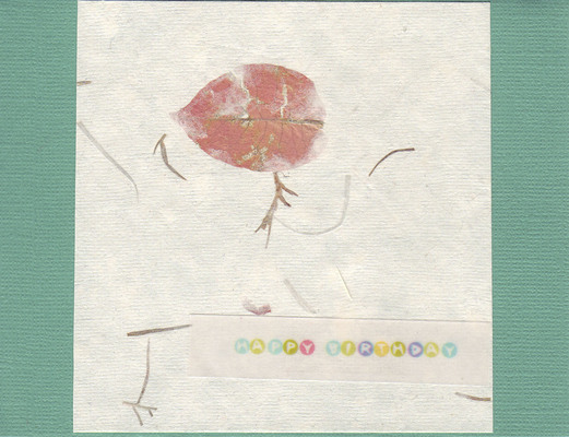 038 - 'Happy Birthday' with flower-embedded paper