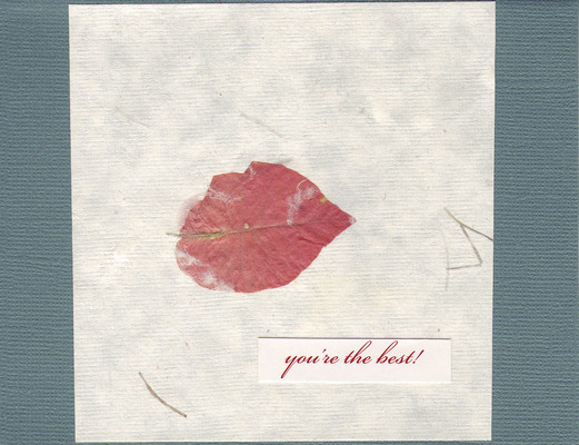 (SOLD) 039 - 'You're the best!' with flower-embedded paper