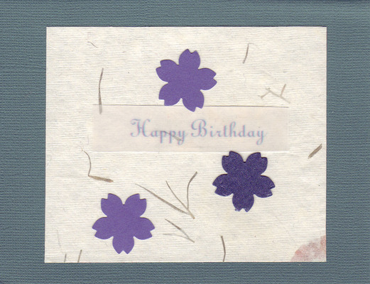 044 - (SOLD) 'Happy Birthday' with flower-embedded paper