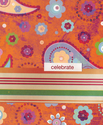 047 - 'Celebrate' with funky flowered paper