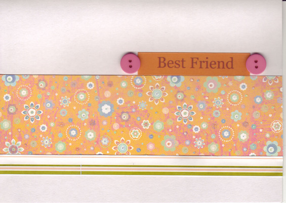 064 - 'Best Friend' with funky floral orange and pink