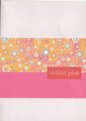 067 - 'Tickled Pink' with funky floral orange and pink