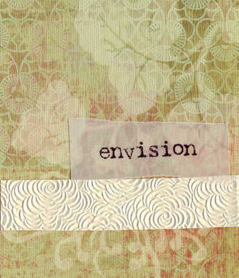 069 - 'Envision' with floral textured band on patterned paper
